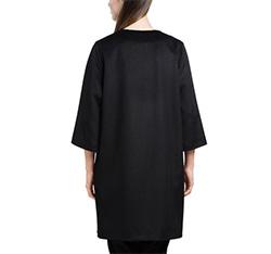 Płaszcz damski, czarny, 84-9W-100-1-2X, Zdjęcie 1