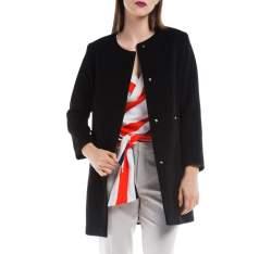 Płaszcz damski, czarny, 84-9W-101-1-XL, Zdjęcie 1