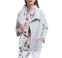 Płaszcz damski, jasny szary, 84-9W-104-9-2X, Zdjęcie 1