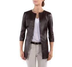 Płaszcz damski, ciemny brąz, 80-09-903-4-L, Zdjęcie 1