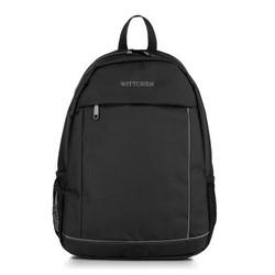 Plecak, czarno - szary, 56-3S-467-12, Zdjęcie 1