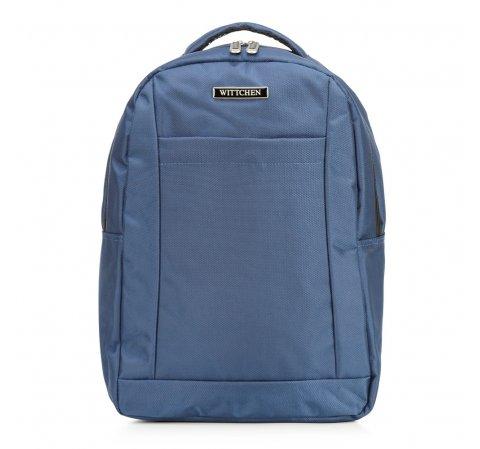 Plecak podróżny z kieszenią na laptopa basic, niebieski, 56-3S-589-10, Zdjęcie 1