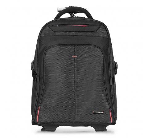 Plecak, czarno - czerwony, 56-3S-630-13, Zdjęcie 1
