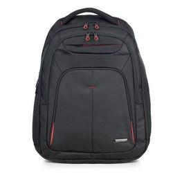 Plecak, czarno - czerwony, 56-3S-632-1A, Zdjęcie 1