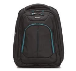 Plecak, czarno - niebieski, 56-3S-632-1B, Zdjęcie 1