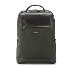 Plecak, ciemny zielony, 85-3U-207-Z, Zdjęcie 1