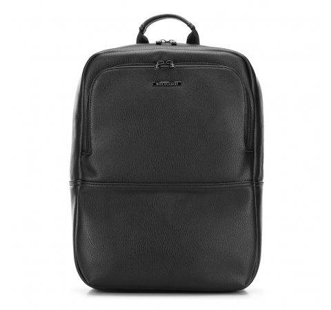 Męski plecak na laptopa z ekoskóry, czarny, 91-3P-603-1, Zdjęcie 1