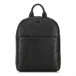Męski plecak na laptopa skórzany, czarny, 91-3U-304-1, Zdjęcie 1