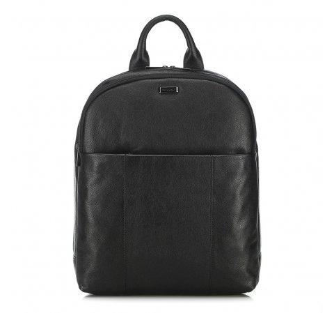 Męski plecak na laptopa skórzany, czarny, 91-3U-304-7, Zdjęcie 1