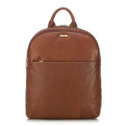 Męski plecak na laptopa skórzany, koniak, 91-3U-304-5, Zdjęcie 1