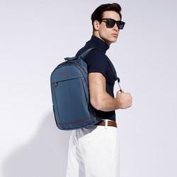 plecak podróżny z tkaniny, granatowo - czerwony, 56-3S-467-91, Zdjęcie 1