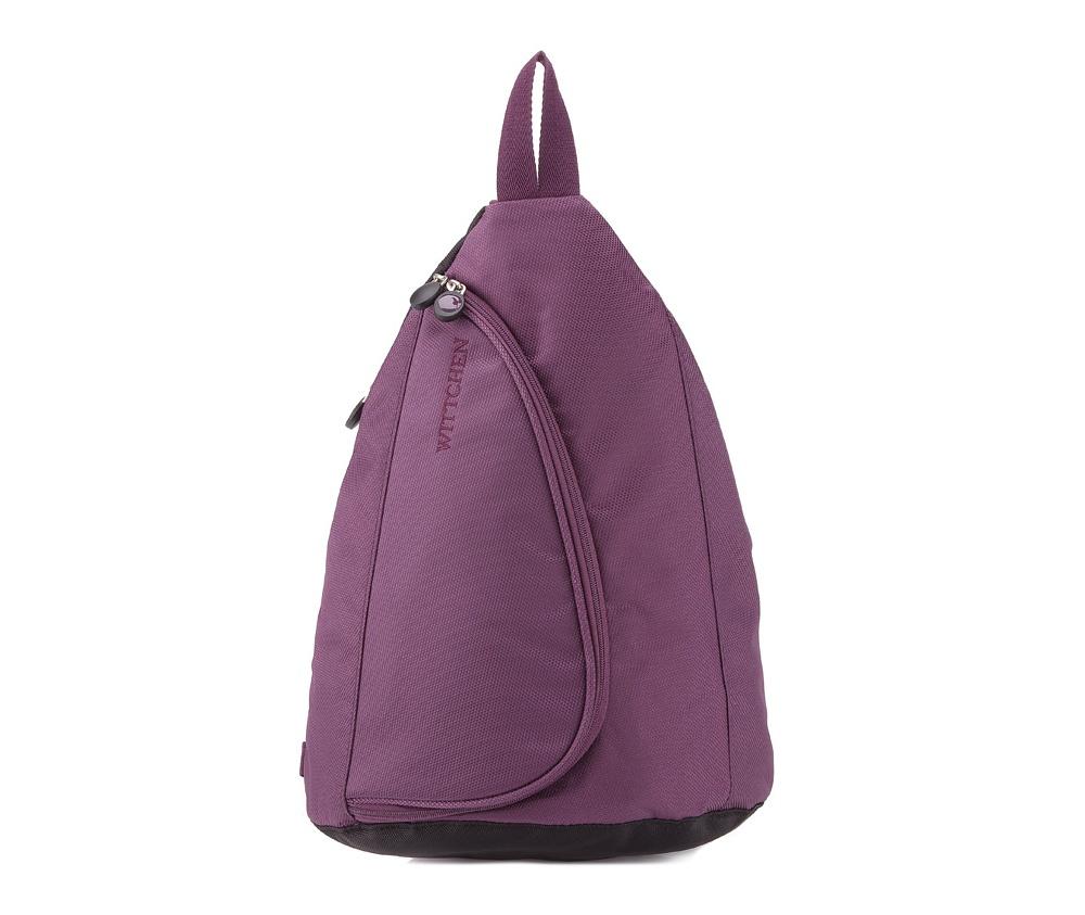 РюкзакРюкзак из коллекции Travel Light. Сделан из прочного полиэстра. Удобная лямка с регулируемой длиной, позволяет носить рюкзак через плечо.&#13;<br> &#13;<br> &#13;<br> Особенности модели:&#13;<br> &#13;<br> &#13;<br> основное отделение на молнии;&#13;<br> съемный футляр на молнии с 2 карманами, в том числе 1 прозрачным;&#13;<br> &#13;<br> &#13;<br> &#13;<br> Дополнительно:&#13;<br> &#13;<br> &#13;<br> отделение на молнии;<br><br>секс: унисекс<br>Цвет: фиолетовый<br>материал:: Полиэстер<br>высота (см):: 46<br>ширина (см):: 8 - 31<br>глубина (см):: 14