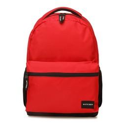 Plecak basic duży, czerwono - czarny, 56-3S-927-30, Zdjęcie 1
