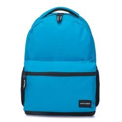 Plecak basic duży, jasny niebieski, 56-3S-927-77, Zdjęcie 1