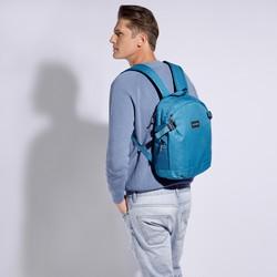 Plecak basic mały, turkusowy, 56-3S-937-85, Zdjęcie 1