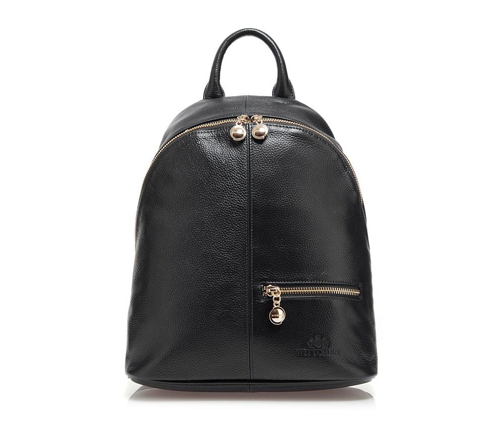 Рюкзак кожаныйРюкзак кожаный<br><br>секс: женщина<br>Цвет: черный<br>материал:: Натуральная кожа<br>тип:: на спине<br>высота (см):: 30<br>ширина (см):: 27 - 32<br>глубина (см):: 12<br>вмещает формат А4: нет<br>общая высота (см):: 40<br>вес (кг):: 0,7