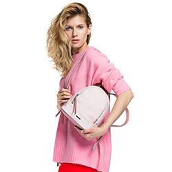 Plecak damski, pudrowy róż, 86-4Y-210-9, Zdjęcie 1