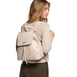 Plecak damski, ecru, 86-4Y-427-9, Zdjęcie 1