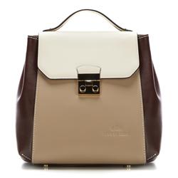 Plecak damski, beżowo - brązowy, 87-4E-227-X1, Zdjęcie 1