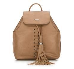 Plecak damski, jasny brąz, 87-4Y-354-5, Zdjęcie 1