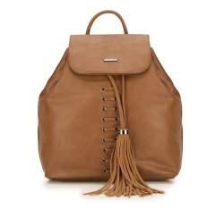 Plecak damski, brązowy, 87-4Y-354-9, Zdjęcie 1