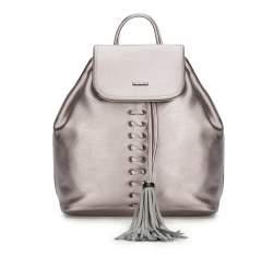 Plecak damski, srebrny, 87-4Y-354-S, Zdjęcie 1