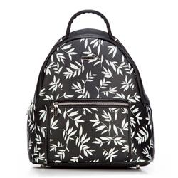 Plecak damski, czarno - biały, 87-4Y-573-1, Zdjęcie 1