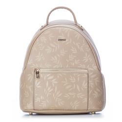 Plecak damski, beżowy, 87-4Y-573-9, Zdjęcie 1
