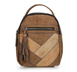 Plecak damski, brązowy, 87-4Y-712-5, Zdjęcie 1