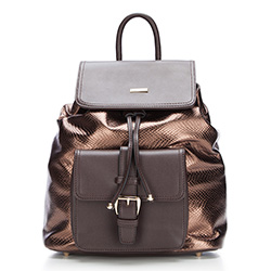 Plecak damski, brązowy, 87-4Y-773-5, Zdjęcie 1