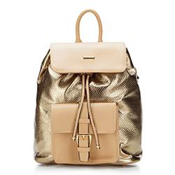 Plecak damski, złoty, 87-4Y-773-G, Zdjęcie 1