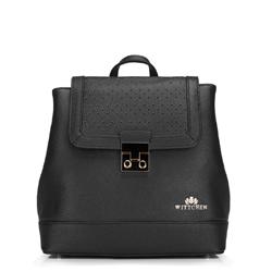 Plecak damski, czarny, 88-4E-202-1, Zdjęcie 1