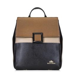 Plecak damski, czarno - brązowy, 88-4E-352-1, Zdjęcie 1