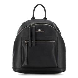 Plecak damski, czarny, 88-4E-411-1, Zdjęcie 1