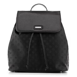Plecak damski, czarny, 88-4E-924-1, Zdjęcie 1