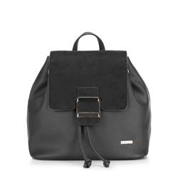 Plecak damski, czarny, 88-4Y-511-1, Zdjęcie 1