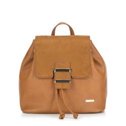 Plecak damski, brązowy, 88-4Y-511-5, Zdjęcie 1