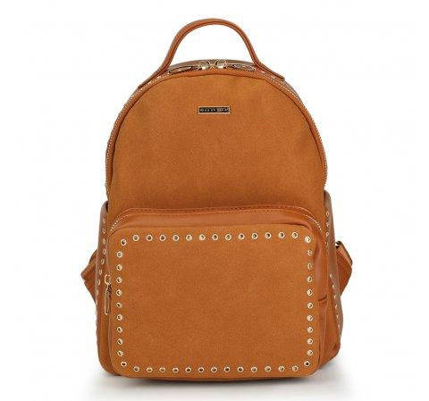 Plecak damski, brązowy, 88-4Y-608-5, Zdjęcie 1