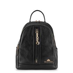 Plecak damski, czarny, 89-4E-369-1, Zdjęcie 1