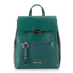 Plecak damski, zielono - czarny, 89-4Y-414-Z, Zdjęcie 1
