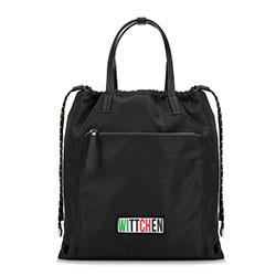Damski plecak ze ściągaczem, czarny, 90-4Y-301-1, Zdjęcie 1