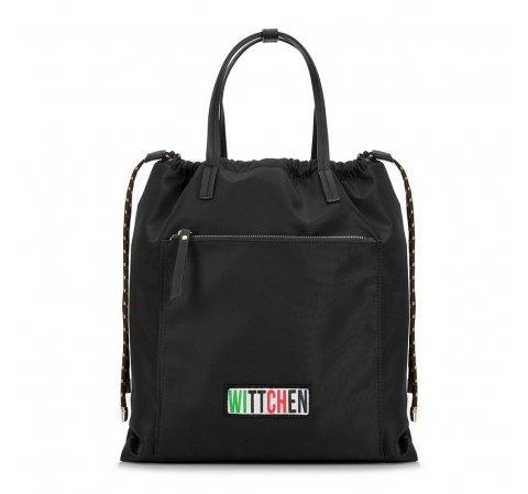 Damski plecak ze ściągaczem, czarny, 90-4Y-301-7, Zdjęcie 1