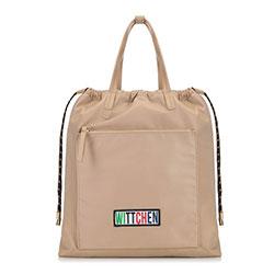 Plecak damski, beżowy, 90-4Y-301-9, Zdjęcie 1