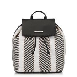 Plecak damski, czarno - beżowy, 90-4Y-406-X2, Zdjęcie 1