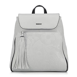 Plecak damski, jasny szary, 90-4Y-602-8, Zdjęcie 1