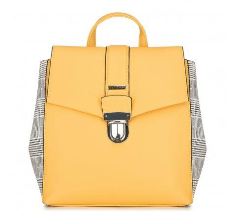 Plecak damski, żółty, 90-4Y-610-Y, Zdjęcie 1