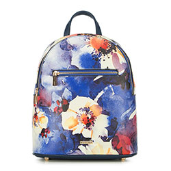 Plecak damski, beżowo - niebieski, 90-4Y-612-X1, Zdjęcie 1