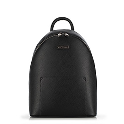 Damski plecak na cienkich paskach, czarny, 90-4Y-701-1, Zdjęcie 1