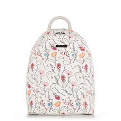 Plecak damski, biało - czerwony, 90-4Y-701-X1, Zdjęcie 1