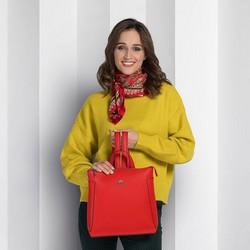 Plecak damski, czerwony, 89-4-705-3, Zdjęcie 1